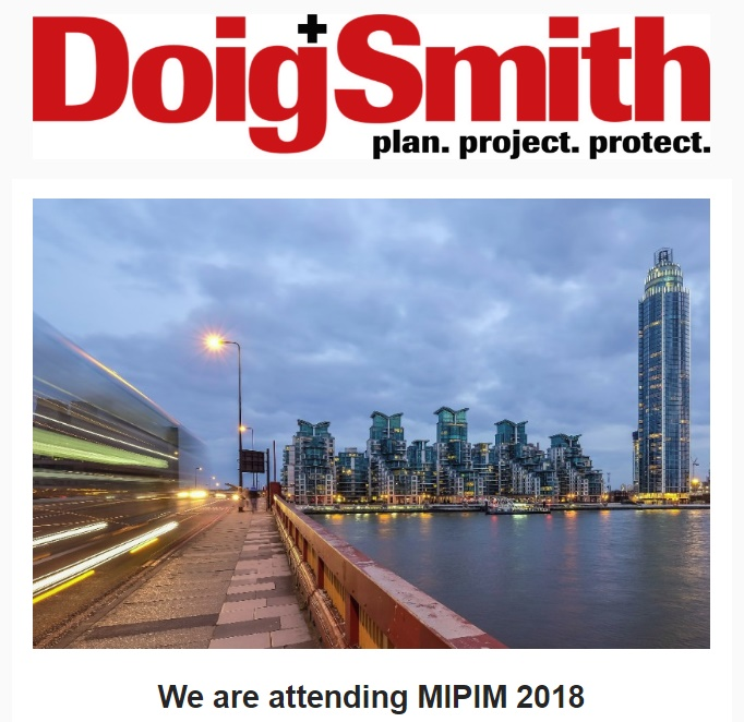 We are attending MIPIM 2018