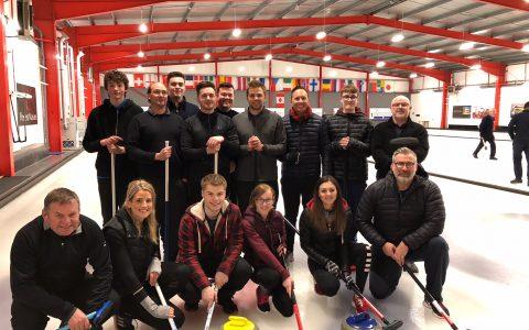 Edinburgh team night out at Murrayfield Curling Rink