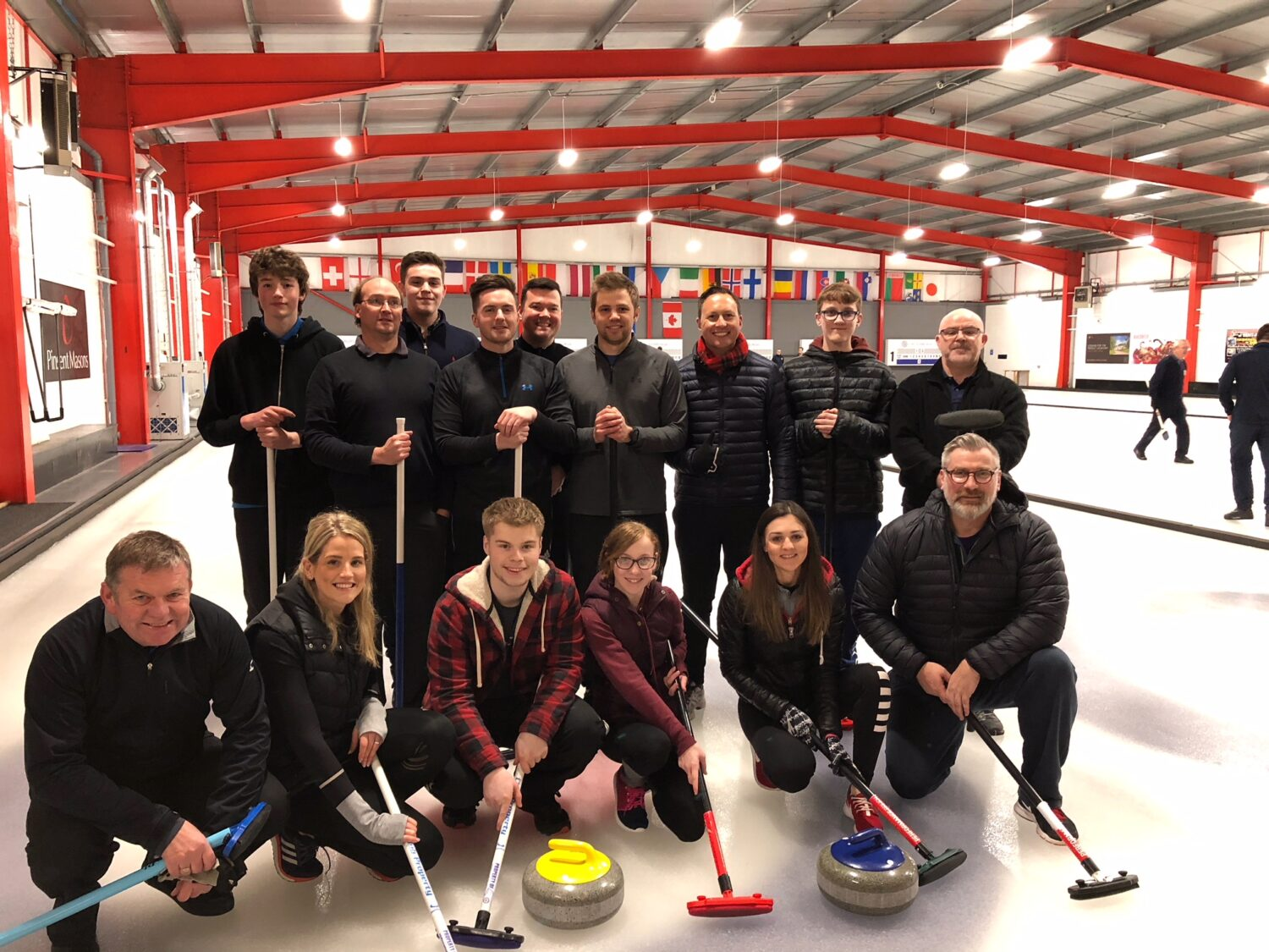 Edinburgh team night out at Murrayfield Curling Rink