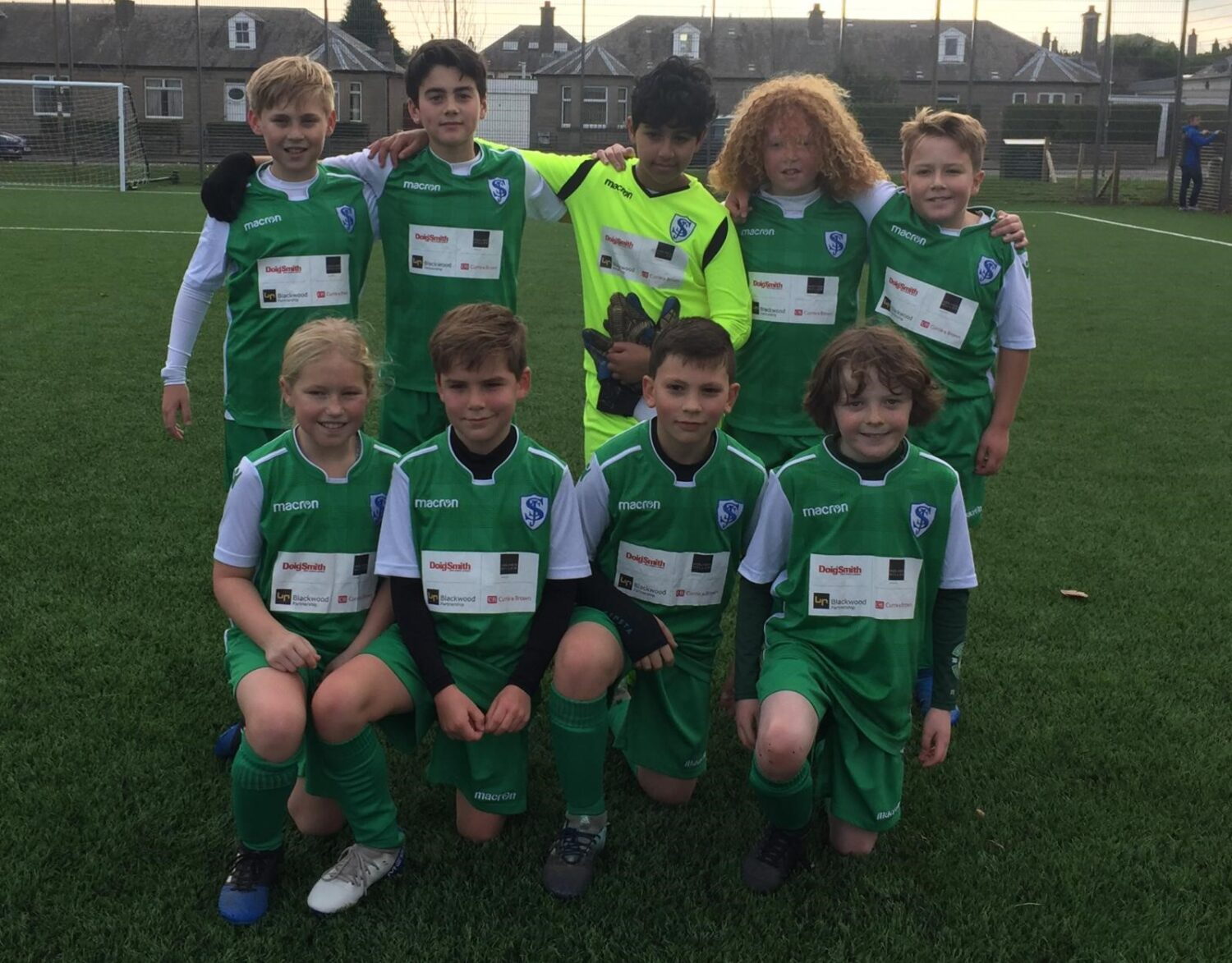 P6 pupils delighted with their new football strips