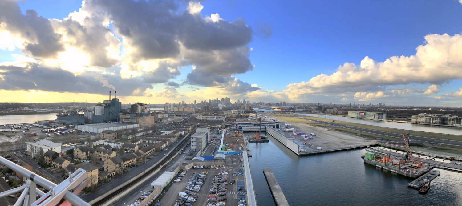 Flying high about London City Airport