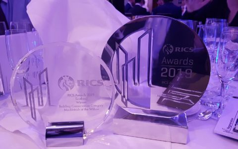 Mackintosh at the Willow Scoops Two RICS Awards