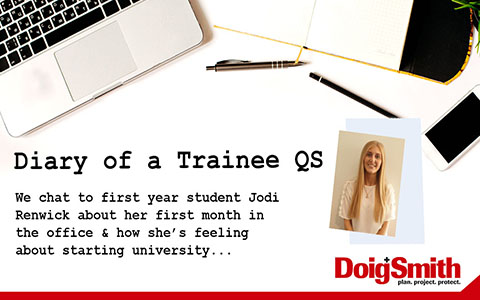 Diary of a Trainee QS: The Journey Begins…