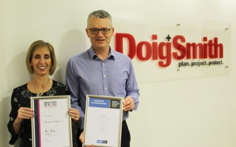 Double Celebration as Doig+Smith Receives Platinum and Gold Awards from Investors in People.